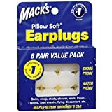 6ペア耳栓 作業、水泳 睡眠、勉強での騒音防止及び水が入るのお防ぎます 並行輸入品 Mack's Pillow Soft Earplugs