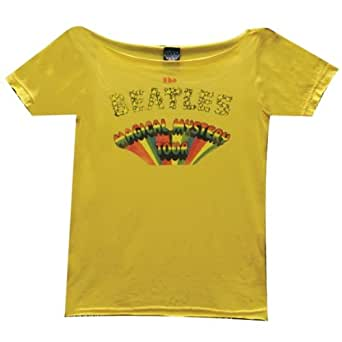 The Beatles - Womens Mystery Tour Juniors T-shirt Large Yellow