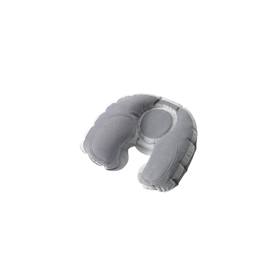 Going In Style Super Snoozer Inflatable Travel Neck Pillow w/ Ear Plugs Comfort Set