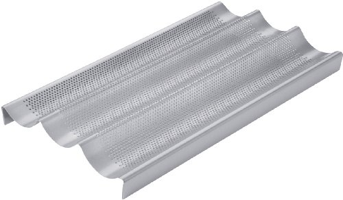 Chicago Metallic Commercial II Non-Stick Perforated Baguette Pan (Perforated Baguette Pan compare prices)