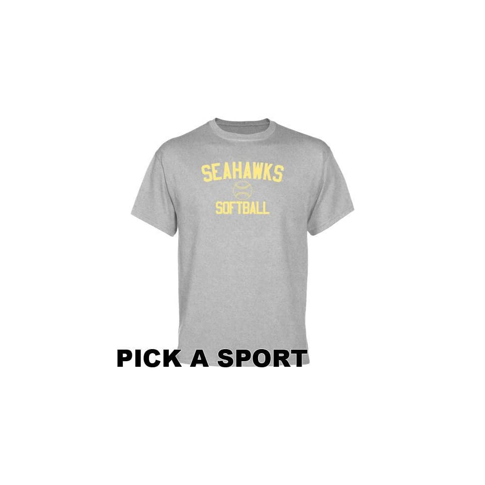 dad3b8827 UNCW Seahawks T Shirt UNC Wilmington Seahawks Ash Custom on PopScreen