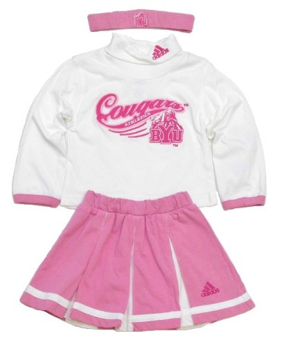 adidas BYU Cougars White/Pink Toddler 3 Piece Cheerleader Set (2T) at Amazon.com