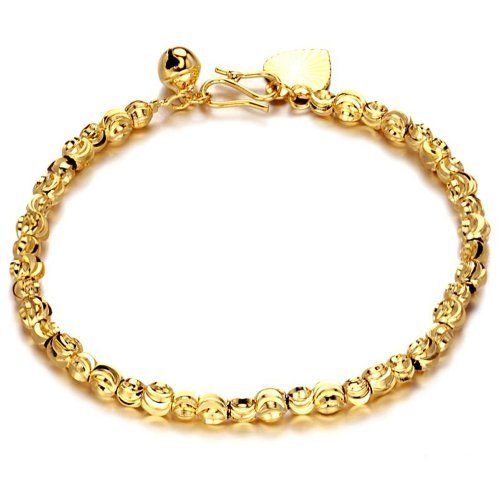 OPK 18K Gold Plated Bracelet No Fade Bell Bangle Hand Chain Lady Jewellery Gift Ks339