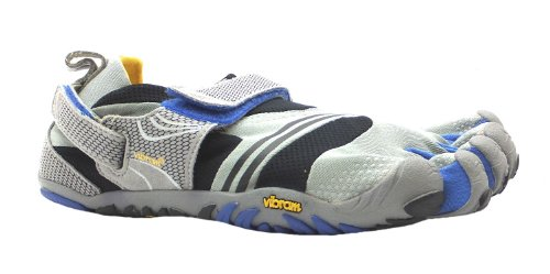 Men's Komodosport Vibram Five Fingers Grey/black/navy Velcro Barefoot Shoes