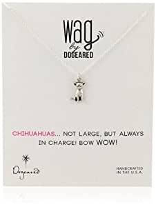 """Dogeared """"Wag"""" Chihuahua Sterling Silver Necklace, 18"""""""