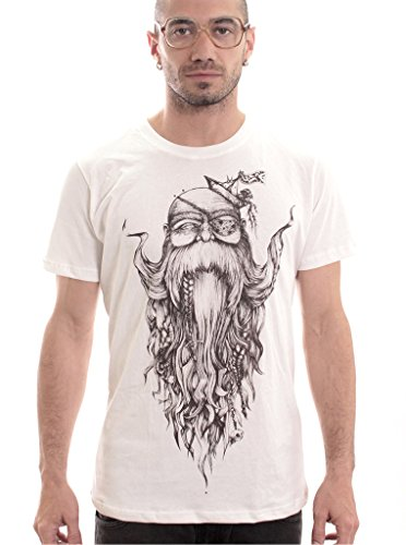 Plazmalab-Mens-Original-Artwork-Beard-Wise-T-Shirt-Cotton-Top-Regular-Fit