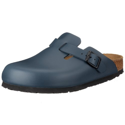 Birkenstock Boston Smooth Leather, Style-No. 60153, Unisex Clogs, Blue, EU 45, slim width