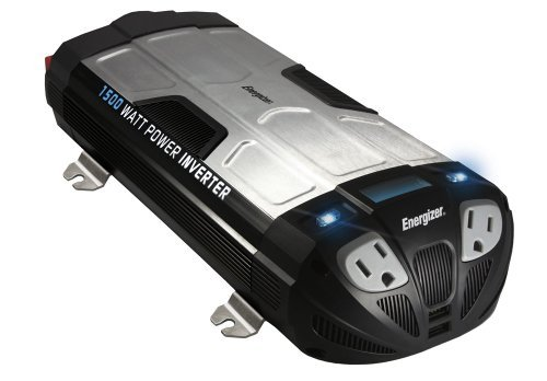 Energizer 1500 Watt Power Inverter Converts 12V Dc From Car'S Battery To 120 Volt Ac With 2 Usb Ports 2.1A Shared Compatible With Ipad Iphone Size: 1500-Watt