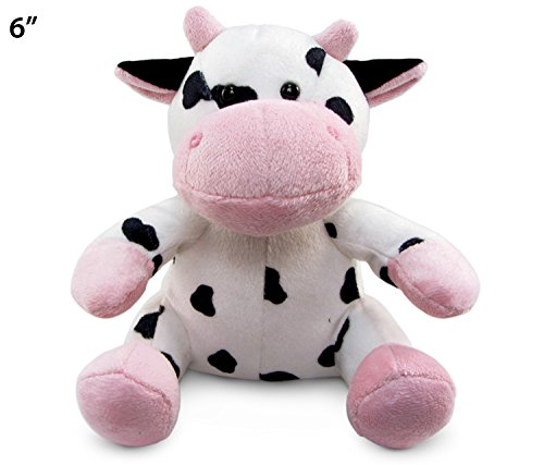 "Puzzled Cow Plush, 6"" - 1"