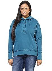 GRAIN Teal Blue Regular fit Cotton Jackets for Women