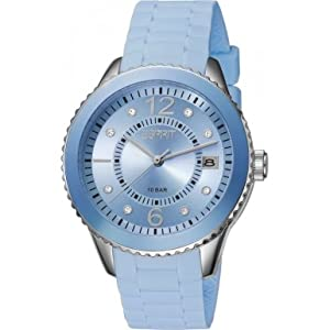 Esprit Marin 68 Pastel Women's Quartz Watch with Blue Dial Analogue Display and Blue Silicone Strap ES105342022