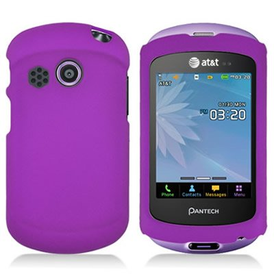 CoverON® Matte Snap-On PURPLE RUBBERIZED Hard Case Cover For PANTECH P6020 SWIFT ATT With PRY-Triangle Case Removal Tool [WCS556]