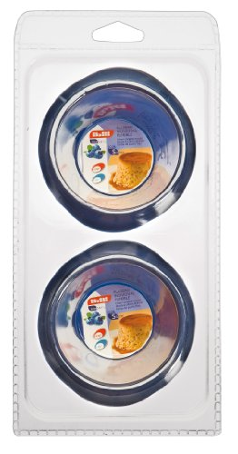 Ibili 870001 Set de 2 moules à Crème Caramel 8 cm Blueberry