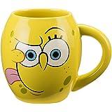 Vandor 21061 SpongeBob Square Pants Oval Ceramic Mug, 18-Ounce, Multicolored