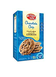 Enjoy Life Chocolate Chip Crunchy Cookie, Gluten, Dairy, Nut & Soy Free, 7-Ounce (Pack of 6)