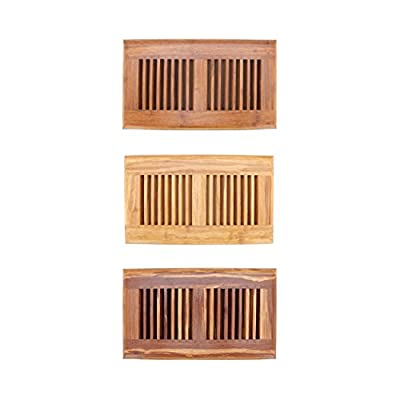 "BambooMN Brand - 6"" Inch x 11.8"" Inch Strand Woven Bamboo Floor Register Air Vent Indent Cover"