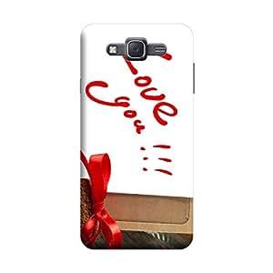 Desicase Samsung J5 Love U 3D Matte Finishing Printed Designer Hard Back Case Cover (Red)