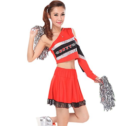 Lace Cheerleader Costume/ Cheerleading Uniform/ Cheerleading Outfits Size L