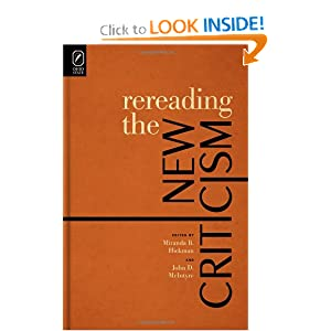 Download ebook Rereading the New Criticism