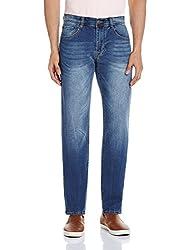 Fox Men's Straight Fit Jeans (418418110432_418418_34W x 31L_Denim)