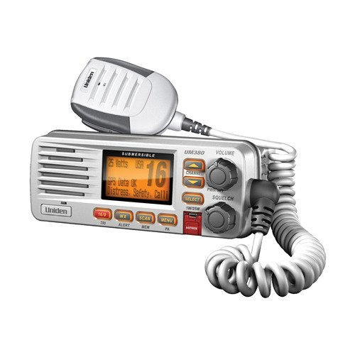 Uniden Class D Full-Feature Fixed Mount VHF Marine Radio - White (UM380)