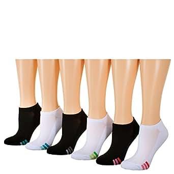 Tipi Toe Women's 12-Pack No Show Athletic Socks, Sock Size 9-11 Fits Shoe 6-9, SP01