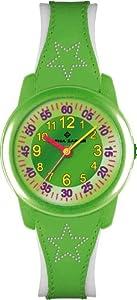 Alpha Saphir 354E - Reloj para niños de cuarzo, correa de piel color varios colores