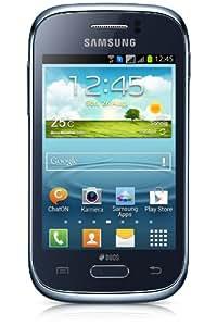 Samsung Galaxy Young DUOS Smartphone(8,3 cm (3,3 Zoll) Display, Quadband, 1GHz, 3,2 Megapixel Kamera, Bluetooth, Dual-SIM, Android 4.1) deep-blue