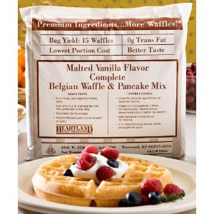 Heartland Malted Vanilla Pancake & Belgian Waffle - All In One, Complete Mix - 80 Ounce Bag (Pack of 1) 5 lbs.