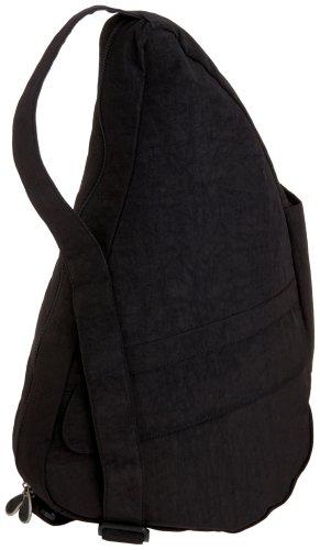 healthy-back-bag-womens-textured-nylon-m-9l-shoulder-bag-black-schwarz-black-bk-size-28x49x18-cm-b-x