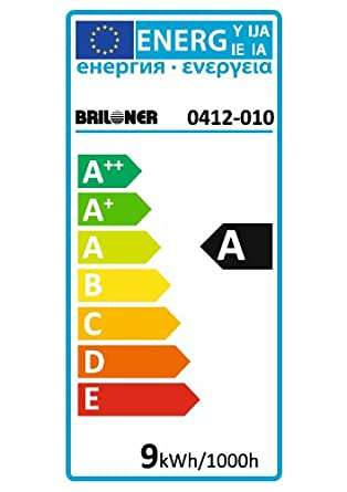 Briloner Leuchten ESL Leuchtmittel, E14, 240 V, 9.0 W, 405