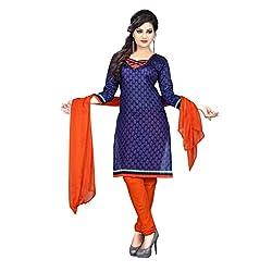 Aagaman Fashion Art Silk Unstitched Salwar Suit (AFSDHSK2011_Blue)