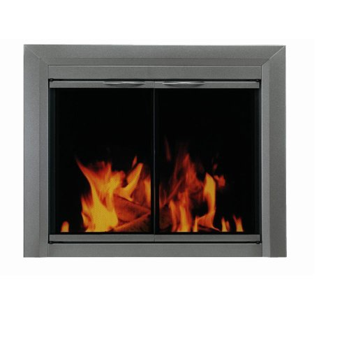 Pleasant Hearth CR-3400 Craton Fireplace Glass Door, Gunmetal, Small (Fireplace Glass Doors Gunmetal compare prices)