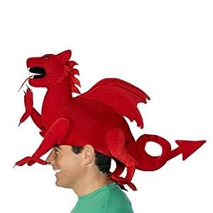 Welsh Dragon Hat Red, Adult, Felt, Stuffed, Fancy Dress