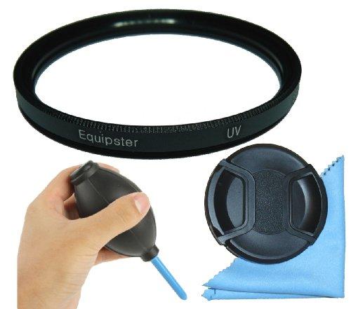 equipster UV Filter NC-(00) Schutzfilter Set mit Objektivschutzdeckel , Turbo Blower Blasebalg und Mikrofaser Reinigungstuch für Sigma 18-125mm f3.8-5.6 DC OS HSM [Minolta/Sony]
