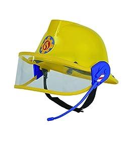 Simba 109258698 - Feuerwehrmann Sam Helm in gelb 23cm