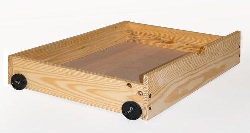 Pine Platform Bed Storage Drawers - Free Standing