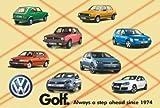 VW golf collage