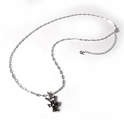 ガガミラノ GAGA MILANO アクセサリー K18WG ブラックダイヤ M ネックレス [並行輸入品]