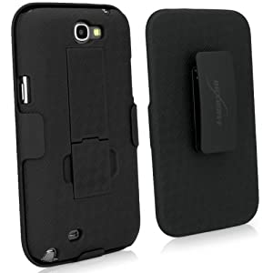 BoxWave Dual+ Holster Samsung Galaxy Note 3 Case - 3-in-1 Holster Combo Case Includes Protective Case and Belt Clip Holster with Integrated Viewing Stand (Jet Black)