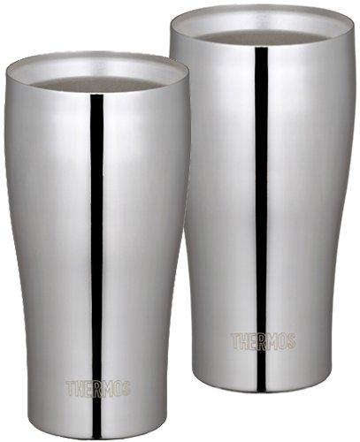 THERMOS 真空断熱タンブラーセット 400ml ステンレスミラー JCY-400GP1 SM