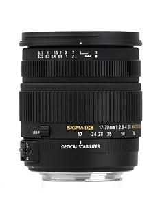 Sigma 17-70 mm f2.8-4 DC Macro OS HSM optical stabilisation lens for Canon Digital SLR cameras