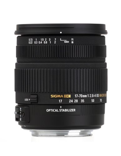 Sigma 17-70 mm f2.8-4 DC Macro OS HSM optical stabilisation lens for Canon Digital SLR cameras