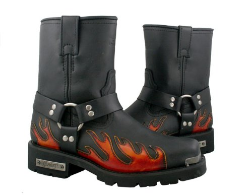 Xelement Mens Harness Flame Motorcycle Boots