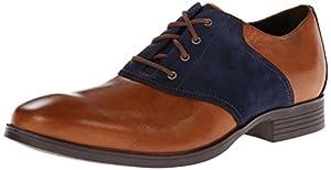 Cole Haan Men's Copley Saddle Oxford,British Tan/Blazer Blue,7.5 M US