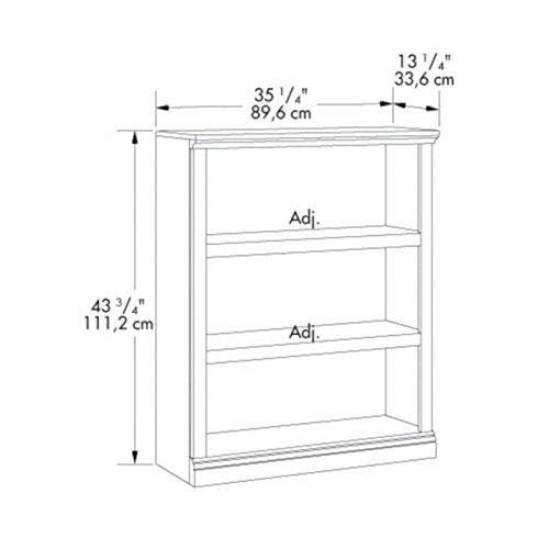 sauder 3 shelf bookcase select cherry finish furniture. Black Bedroom Furniture Sets. Home Design Ideas