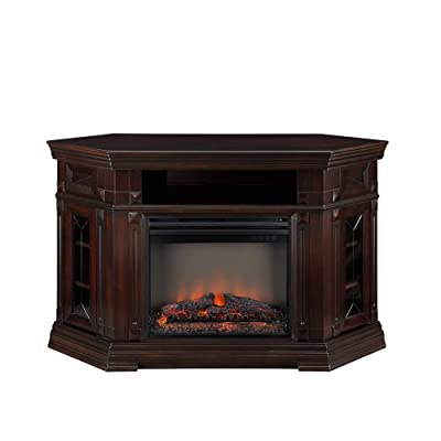 Muskoka Mtvs23865bwl Caldon Collection Electric Fireplace Media Console With Angled