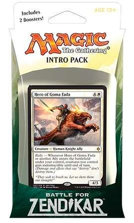 Magic the Gathering: MTG Battle for Zendikar: Intro Pack / Theme Deck: Rallying Cry (includes 2 Booster Packs & Alternate Art Hero of Goma Fada Premium Rare Promo Card) White