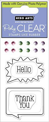 Hello Bubble - Clear Rubber Stamps - 1