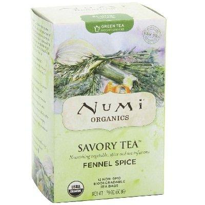 Numi Organic Tea Fennel Spice Savory Tea - 12 Bags Per Pack -- 6 Packs Per Case.